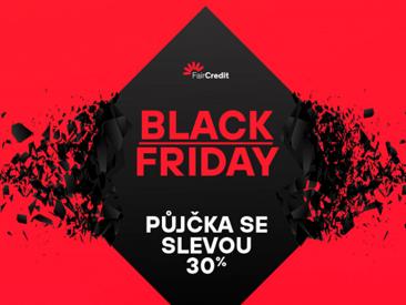 Black Friday - Půjčka s 30% slevou!
