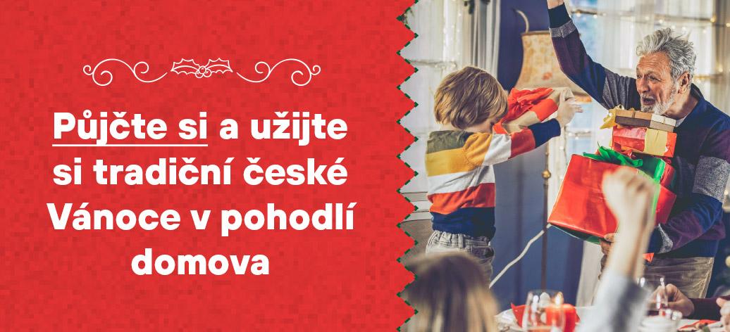 Užijte si tradiční Vánoce. Půjčte si a hrajte o ceny v hodnotě 100 000 Kč!